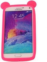 Roze Bumper Beer Small Frame Case Hoesje voor HTC One V