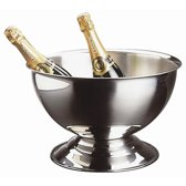 RVS champagnekoeler - ø40 -5 x h22 -5 cm