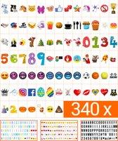 340 Stuks Lightbox Letters, Symbolen en Emoticons set (oa Sinterklaas en Kerst) | A3, A4 of A5 light box | King Mungo