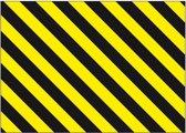 Vervangingsfolie voor een stalen beschermingsbeugel, geel / zwart, fol