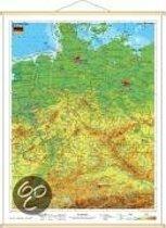 Deutschland physisch im Miniformat 1 : 1 700 000. Wandkarte