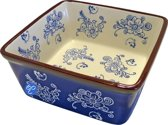 Lavandoux - Ovenschaal - Vierkant - 20 cm - Floral Lace Blue