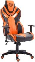 Clp Racing bureaustoel FANGIO gaming chair - Kunstleer - Zwart/oranje