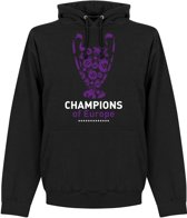 Real Madrid Champions League 2018 Winners Hooded Sweater - Zwart - M