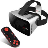 VR Park HQ Virtual Reality Bril met VR 3D Gamepad & Remote - HD VR Bril met Bluetooth remote Controller Zilver