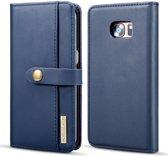 Samsung Galaxy S7 Edge Leer 2-in-1 Bookcase en Back Cover Hoesje Blauw