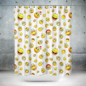 Roomture - douchegordijn - Smiley - 240 x 200 - extra breed