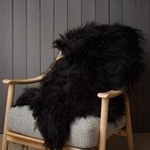 WOOOL IJslandse Schapenvacht Zwart - 100% Echt Wol, Langharig en Groot (100-110cm)