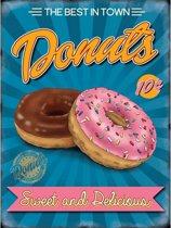 Grote muurplaat Donuts 30x40cm