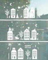 Herbruikbare raamstickers Sinterklaas, Kerst en Vuurwerk