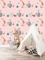 KEK Amsterdam Wallpaper Animal Mix Roze
