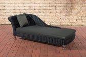 Clp Savannah - Chaise longue - 5 mm Poly-rotan - Rotan kleur:zwart Overtrek : antraciet