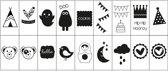 Vaessen Creative Lightbox Symbolen, 18 stuks