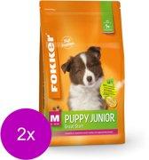 Fokker puppy / junior medium 10-30 kg hondenvoer 2x 13 kg