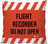 Flight Recorder (zwarte doos vliegtuig) - Sierkussen - 40 x 40 cm - Reizen / Vakantie - Reisliefhebbers - Voor op de bank/bed