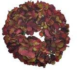 Viv! Home Luxuries Hortensia krans - zijde - rood - herfst - 30cm - topkwaliteit