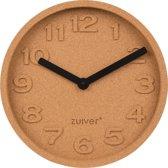 Zuiver Cork Time - Klok - Bruin