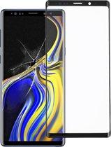 Voorzijde buitenste glazen lens voor Galaxy Note9 (zwart)