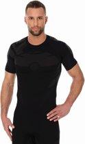 Brubeck | Heren DRY Thermoshirt -  Sport Ondershirt / Baselayer - Light - Grafiet/Zwart - XL - Korte Mouw -