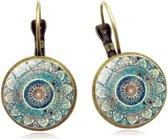 Betoverende oorbellen Yogini Semyco® | Mandala | Soulful | Oorhangers | Yoga hanger | Handgemaakte oorbellen | Spirituele sieraden | Karma symbols | Meditatie | Mala | Dames | Goudkleurig | Blauw | Verkrijgbaar in 5 kleuren