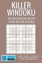 Killer Windoku: 200 Medium 9x9 Killer Extra Region Sudoku
