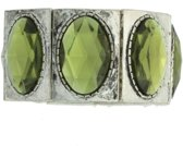 Elastische armband met ovale stenen
