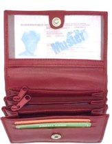 Kleine portemonnee leder rood 29127