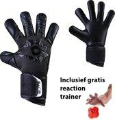 Elite - Neo Black - Keepershandschoenen - inclusief Reaction trainer - maat 7 - voetbal keepershandschoenen - keepershandschoen - Goalkeeper handschoen