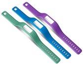 Garmin Vívofit polsbanden in paars, groen en blauw - Large