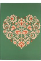 Notitieboek A4 Big Green Heart - Uniek - Design - Werk - Studie - Gelijnd - Softcover