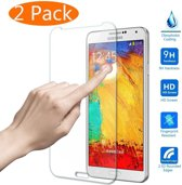 Xssive Screenprotector Glas Folie Tempered Glass voor Samsung Galaxy Note 3 N9005 2 stuks