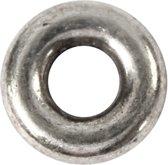 Spacer kraal, d: 9 mm, gatgrootte 4 mm, antiek zilver, 15stuks