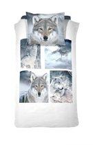Damai Dekbedovertrekset katoen 140 x 200/220 cm wolves grey