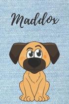 Maddox Notizbuch Hunde / Malbuch / Tagebuch / Journal / DIN A5 / Geschenk: individuelles personalisiertes blanko Jungen & M�nner Namen Notizbuch, ...