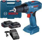 Bosch accuboor-/schroefmachine - GSR1800-LI - incl. 2 x 1,5 Ah Li-ion accu en lader - in koffer