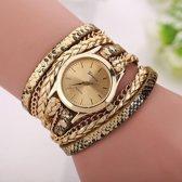 Geneva Horloge Armband Goudkleurig