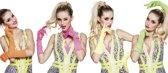 24 stuks: Handschoenen elleboog Nice neon in 4 kleuren - assorti
