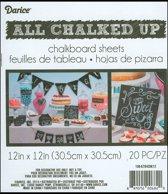 Chalkboard Sheet - Krijtbord Vellen - 30,5 x 30,5cm - 20 vellen