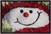 Deurmat kerst sneeuwpop Wasbaar 30°C 40x60 cm