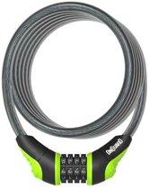 Onguard Kabelslot Coil Neon Combo 180 Cm X 12 Mm Zwart/groen