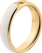 Melano Twisted Tracy resin ring - dames - goldplated + white resin - 5mm - maat 56