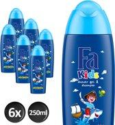 Fa Kids Douche & Shampoo Pirate - 6 stuks