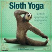Sloth Yoga 2020 Mini Wall Calendar