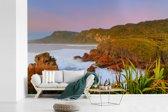 Fotobehang vinyl - Uitzicht over het Nationaal park Paparoa in Nieuw-Zeeland breedte 330 cm x hoogte 220 cm - Foto print op behang (in 7 formaten beschikbaar)