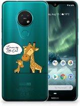 Nokia 7.2 | 6.2 Telefoonhoesje met Naam Giraffe
