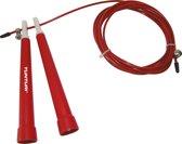 Tunturi Verstelbaar Speed Rope -Springtouw - Sport springtouw - Fitness springtouw - Rood