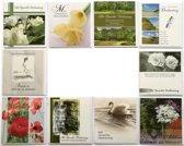 Rouw en Condoleance kaarten - Set van 10 - Met oprechte deelneming