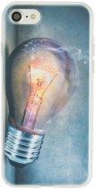 GadgetBay Gloeilamp iPhone 7 8 TPU case cover - Industrieel Lightbulb hoesje