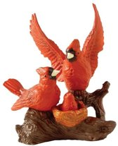 Beeld Rode Familie Vogels met cijfer 8