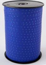 Krullint met Stippen Blauw 10 mm x 225 mtr (1 rol)